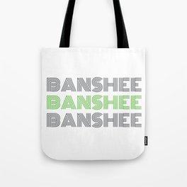 Banshee x3 - Gray/Green Tote Bag