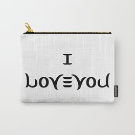 I LOVE YOU ambigram Carry-All Pouch