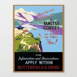 Vintage poster - Yangtsze Gorges Canvas Print