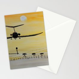 Yellow last flight Stationery Cards