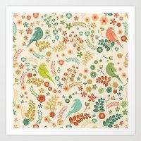 Vector Floral Pattern Art Print