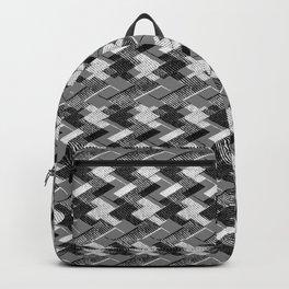 Geometric black, white pattern. Backpack