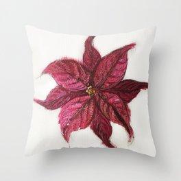 Oil Flower Throw Pillow