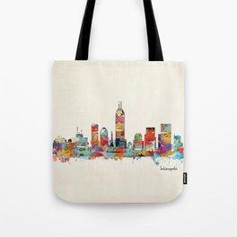 Indianapolis Indiana skyline Tote Bag