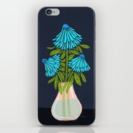 Blue Echinacea iPhone Skin