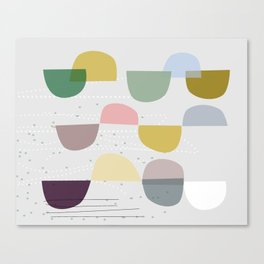 Mid century temporary art VIII Canvas Print