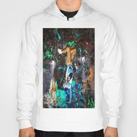 skateboard Hoodies featuring skateboard street by  Agostino Lo Coco
