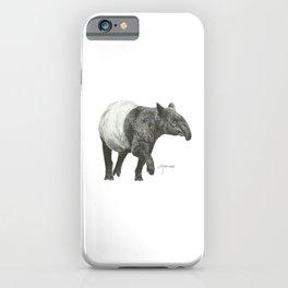 Malayan Tapir (White) iPhone Case