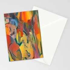 abstract Carnival ride Stationery Cards