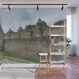 outside walls of the City of Carcassonne Wall Mural
