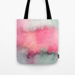 Blue and Pink Marble Watercolor Tote Bag