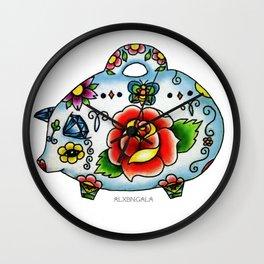Mexican Piggy Bank Wall Clock