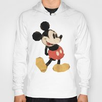 mickey Hoodies featuring Mr. Mickey Mouse by Ed Burczyk