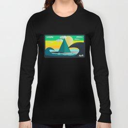 wave, mountain and sun Long Sleeve T-shirt