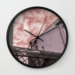 Battle for cleanliness Wall Clock