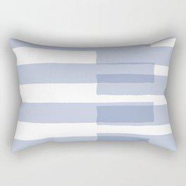 Big Stripes in Light Blue Rectangular Pillow