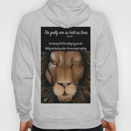Lion - Proverbs 28, 1 Hoody