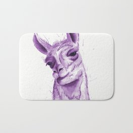 Llama in Purple Bath Mat