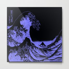 The Great Wave Periwinkle Lavender Metal Print