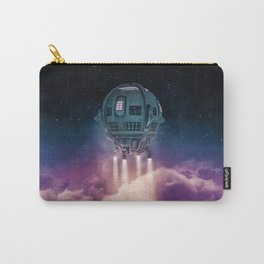 Out of the atmosphere / 3D render of spaceship rising above clouds Carry-All Pouch
