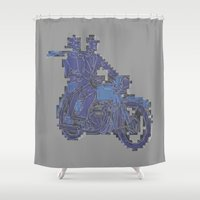 motorbike Shower Curtains featuring Motorbike  by marcusmelton