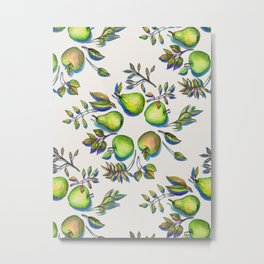 Summer's End - apples and pears Metal Print