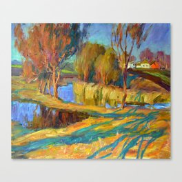 Spring in the village Canvas Print