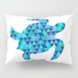 Mosaic Turquoise Sea Turtle Pillow Sham
