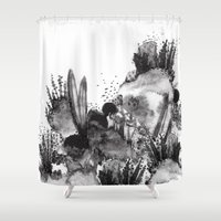 coral Shower Curtains featuring Coral by Fifikoussout