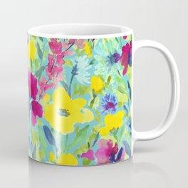 Wild Garden Aqua Coffee Mug