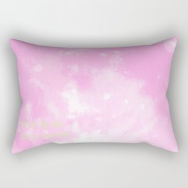 Love By The Moon Pink Rectangular Pillow