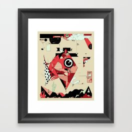 Fish and Squirrel Framed Art Print