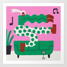 Dance Party for One Art Print