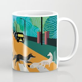Abbey Road Foxes of London Art Print Coffee Mug