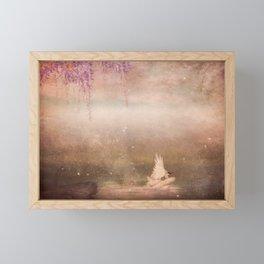 Fantasy lake Framed Mini Art Print