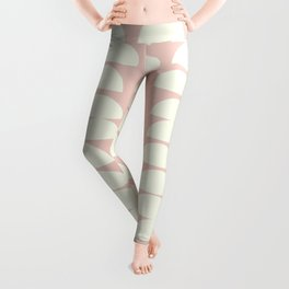 Simple and Modern Half Circle Shapes in Blush and Cream Leggings