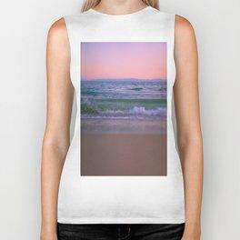 Pink Sunset Ocean Biker Tank