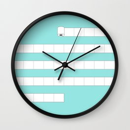 (very) Long Toilet Paper Wall Clock