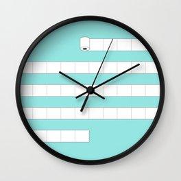 (very) Long Toilet Paper Wall Clock