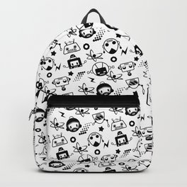 Robot Pattern Backpack