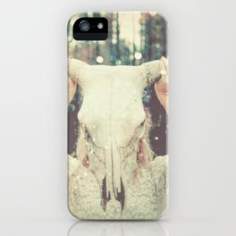 Bull Skull Tribal Woman iPhone Case