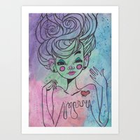mel's heart Art Print
