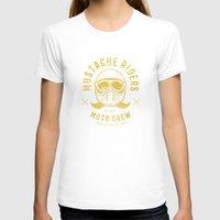moto T-shirts featuring Mustache Riders Moto Crew by Kris Petrat Design :  Art Love Moto