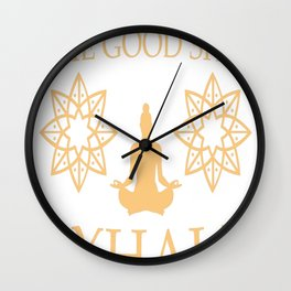 Yoga Inhale the good shit Wall Clock