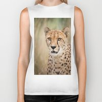 cheetah Biker Tanks featuring Cheetah by Simon's Photography