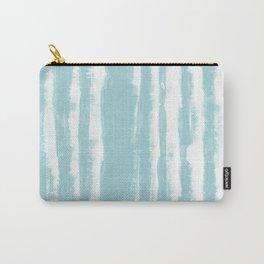 Shibori Stripe Seafoam Carry-All Pouch