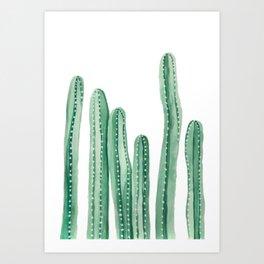 Cactus Painting Design - Cacti Design - Tall Cactus Design Art Print