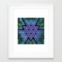 fabric Framed Art Prints featuring Fabric by Lyle Hatch