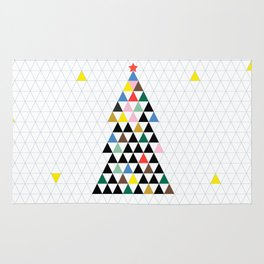 Geometric Christmas Tree Rug