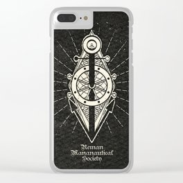 Reman Mananautical Society Insignia Clear iPhone Case